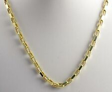 "14.00 gram 14k Yellow Gold Long Open Box Chain Men's Women's Necklace 22"" 4 mm"