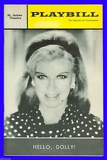 Playbill + Hello Dolly + Ginger Rogers , David Burns , Sondra Lee, Alice Playten