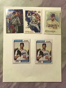 CLAYTON KERSHAW 2020 Mix Card Lot Los Angeles Dodgers Topps Chrome Panini Ginter