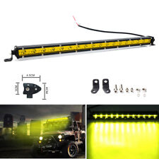 20 inch 54W Yellow LED Work Light Bar Spot SUV ATV Boat Driving Lamp 4WD Offroad