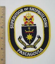 Us Navy Patch Pascagoula Naval Shipyard Supervisor of Shipbuilding Original