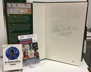 Reggie White Autographed Hard Cover Autobiography Jsa Coa Greenbay Packers Hof
