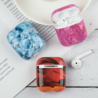 Marble TPU Case Charging Case Protective Cover Protector For Apple AirPods 2 1