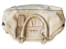 Medium Coach Ashley Beige Leather Satchel Purse