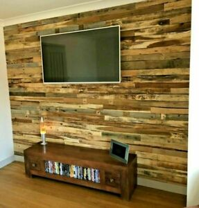 1m² Rustic Reclaimed Pallet Wood Wall Cladding Recycled Timber Planks / Boards