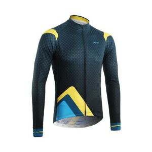 Men Full Zipper Breathable Spandex Long Sleeve Cycling Jersey Bicycle Clothing