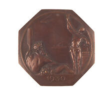 Belgian bronze medal 1930 Exposition International d'Anvers by Josua Dupon