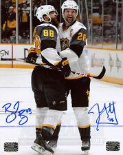 John Scott Brent Burns Signed Autographed 2016 NHL All-Star Celebration 8x10