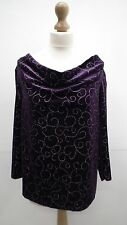 BN Purple And Gold Swirl Evening Top from Bonmarche size L