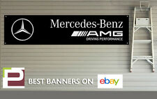 AMG Mercedes Benz Banner for Workshop, Garage, Office, PVC with eyelets, c63 etc