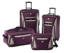 Lightweight Luggage Set For Women Man Purple Suitcase Travel Bag Carry On Plane