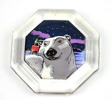 Coca-Cola USA Magnet Kühlschrankmagnet Fridge Magnet Coke - Achteck Eisbär