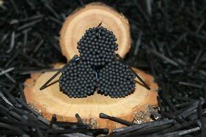 "500 black tips real decorative perfect wedding matches.Black sticks 1.85"". New"