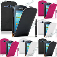 Samsung Galaxy Trend Lite S7390 Housse Coque Etui Pochette Clapet Cuir Véritable