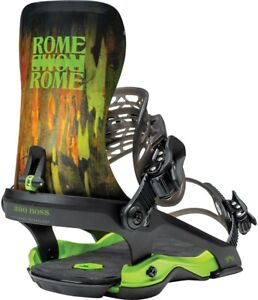 Rome 390 Boss Snowboard Bindings, Men's L/XL (US 10.5+), Camo New 2021