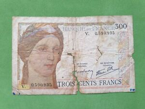 Banknote from France 300 francs 1938