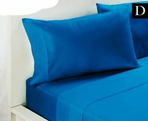 225 Thrad count Cotton Blend Double Bed Sheet Set - Teal