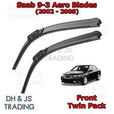 "(02-08) Saab 9-3 Aero Wiper Blades Windscreen 23"" 23"" Hook Type Wipers 93 9 3"