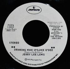 JERRY LEE LEWIS~Drinking Wine Spo-Dee O'Dee & Medley~Promo 45-MERCURY #73374