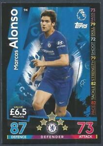 TOPPS MATCH ATTAX 2018-19-#094-CHELSEA-MARCOS ALONSO