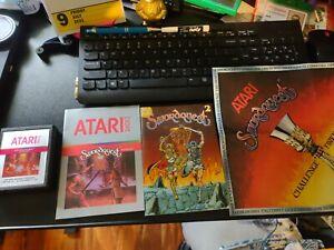 Swordquest: FireWorld (Atari 2600, 1982) w/manual, comic and poster George Perez