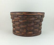 Longaberger Antiqued Medium Bushel Basket no handles