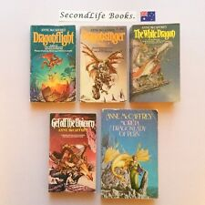 x5 Vintage CHRONICLES OF PERN Novels ~ Anne McCaffrey. Fantasy. Dragonflight.
