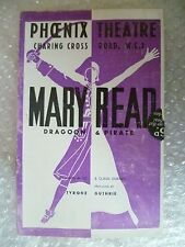 Theatre Programme MARY READ- Flora Robson,Gipsy Ellis,James Bridie,C Gurney