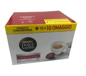 NESTLE' DOLCE GUSTO FORMATO CONVENIENZA CAFFE' ROMA 70+10 OMAGGIO