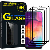 3 Vitre Film Verre Trempe Protecteur d'écran NOIR Samsung Galaxy A50 SM-A505F