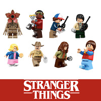 Customised Stranger Things Pack of 8 Mini figures figs Setfits with blocks