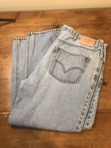 Levis 550 Blue Jeans 44x30 Relaxed Fit