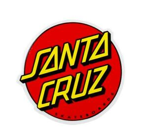 "Santa Cruz classic dot sticker red 6"" FREE J&J'S STICKER"