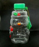 Candy Container Christmas Ornaments Vintage Snowman Russ Hard Plastic