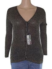 just woman maglia donna nero dorata stretch taglia s / m small medium
