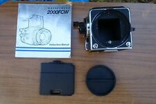 Hasselblad 2000FC Camera Body No UR1510842 & FCW Instruction Manual & Caps
