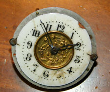 vintage MECANISME HORLOGE cadran PORCELAINE old clock montre pendule UHR SUISSE
