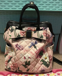 Betsey Johnson Floral Print Bookbag And Purse