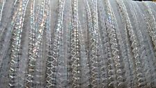 Iridescent silver/transparent colour sequin trim - wire edge, 32m x 1.75cm