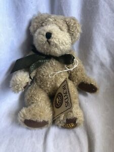 "Boyds Bears Plush Sonny 7"" Light Brown Smiley Face Bear *MISSING Smiley Face*"