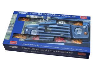 Land Rover Defender Front & Rear Colour Wipac LED Light Upgrade Kit 73mm DA1192