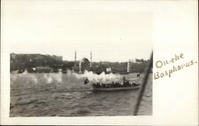 Constantinople Turkey Boating on Bosphorus c1910 Amateur Photo Postcard rtw