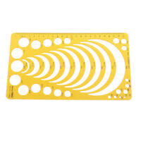 K Resin Template Ruler Stencil Measuring Tool Drawing Many Size Round Circle  uW
