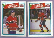 1988-89 OPC O-PEE-CHEE Montreal Canadians Team Set