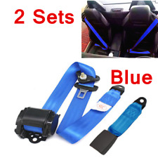2x Car Seat Belt Lap 3 Point Safety Travel Adjustable Universal Car Accessories