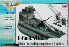 CMK 1/72 U-Boat Type VII C verricello per il caricamento torpedos con 2 MARINAI # N72009