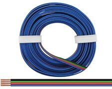 10m Kabel Vierlingslitze 4x0,25mm² schwarz/grün/rot/blau für RGB LED 10 Meter