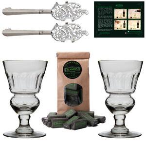 Absinth Glas & Löffel Set   Original Design   Gläser mundgeblasen   ALANDIA™