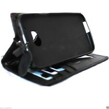 genuine leather Case fit HTC ONE M8 book wallet handmade slim m 8 black cover uk