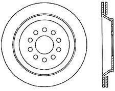 Disc Brake Rotor-C-TEK Standard Rear Centric 121.33088 fits 04-09 Audi S4